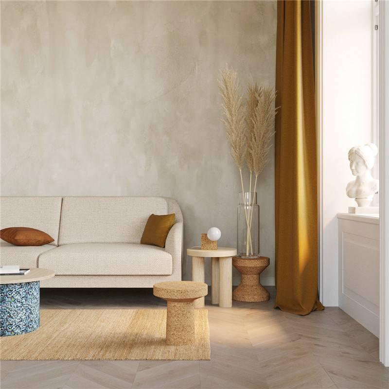 木紋磚客廳鋪貼效果