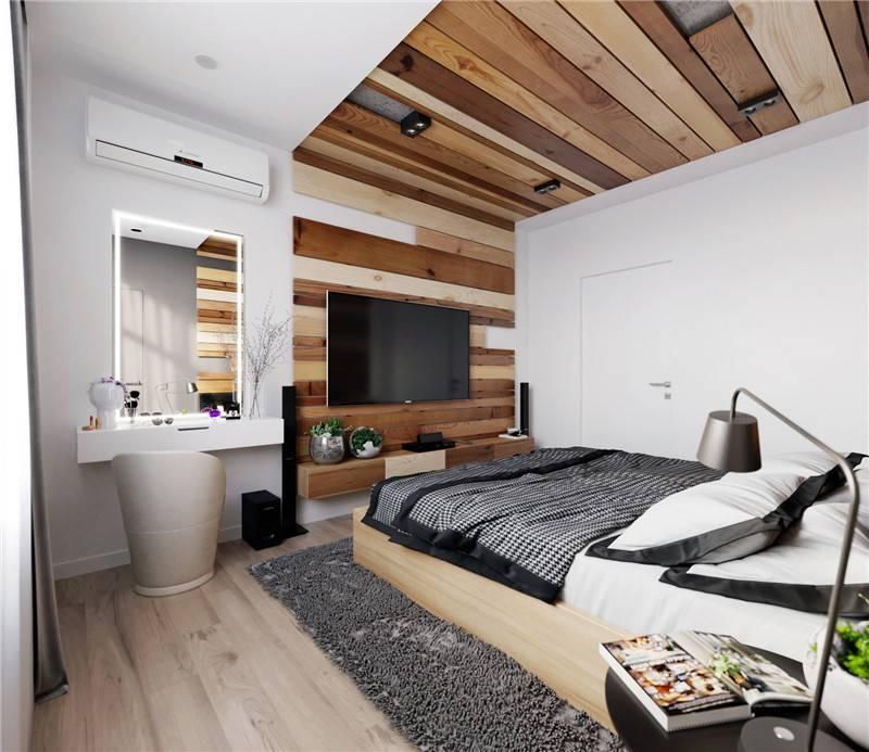 木纹砖卧室铺贴效果